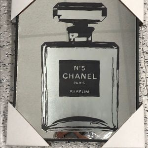 Chanel mirrored wall art